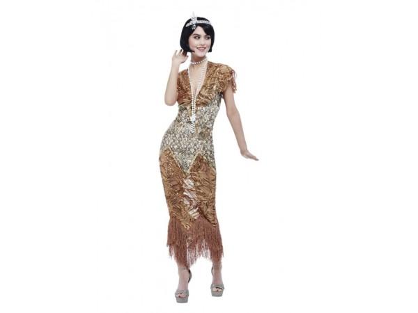 Deluxe 20's Sequin Gold Flapper Costume