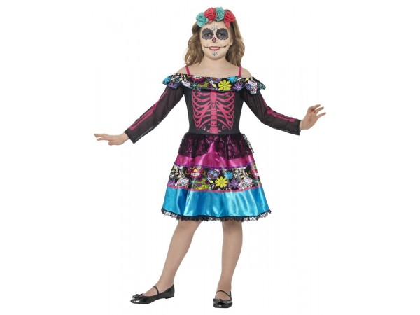 Day of the Dead Sweetheart Costume, Multi-Coloured