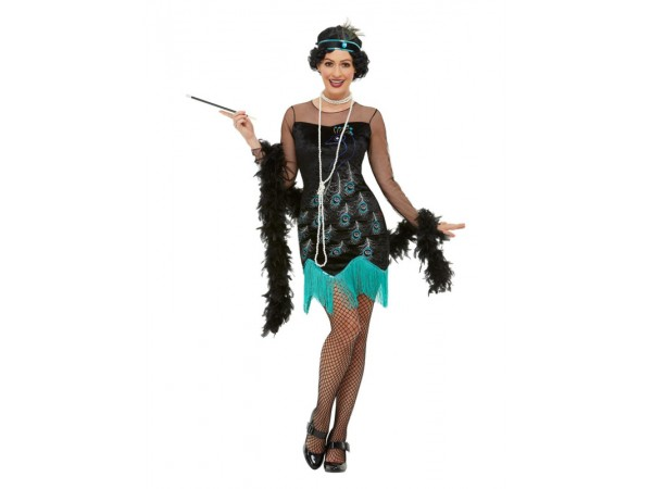20's  Peacock Flapper Costume