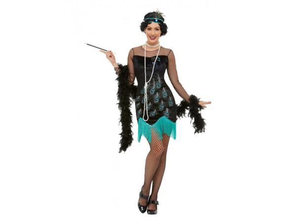 20's  Peacock Flapper Costume