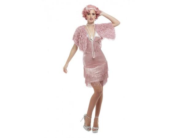 Deluxe 20's Vintage Pink Flapper Dress