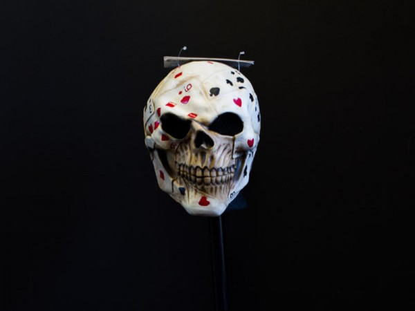 Poker Face Skull Mask